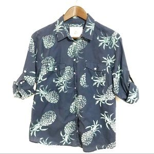 Sonoma Pineapple Button Down Blouse